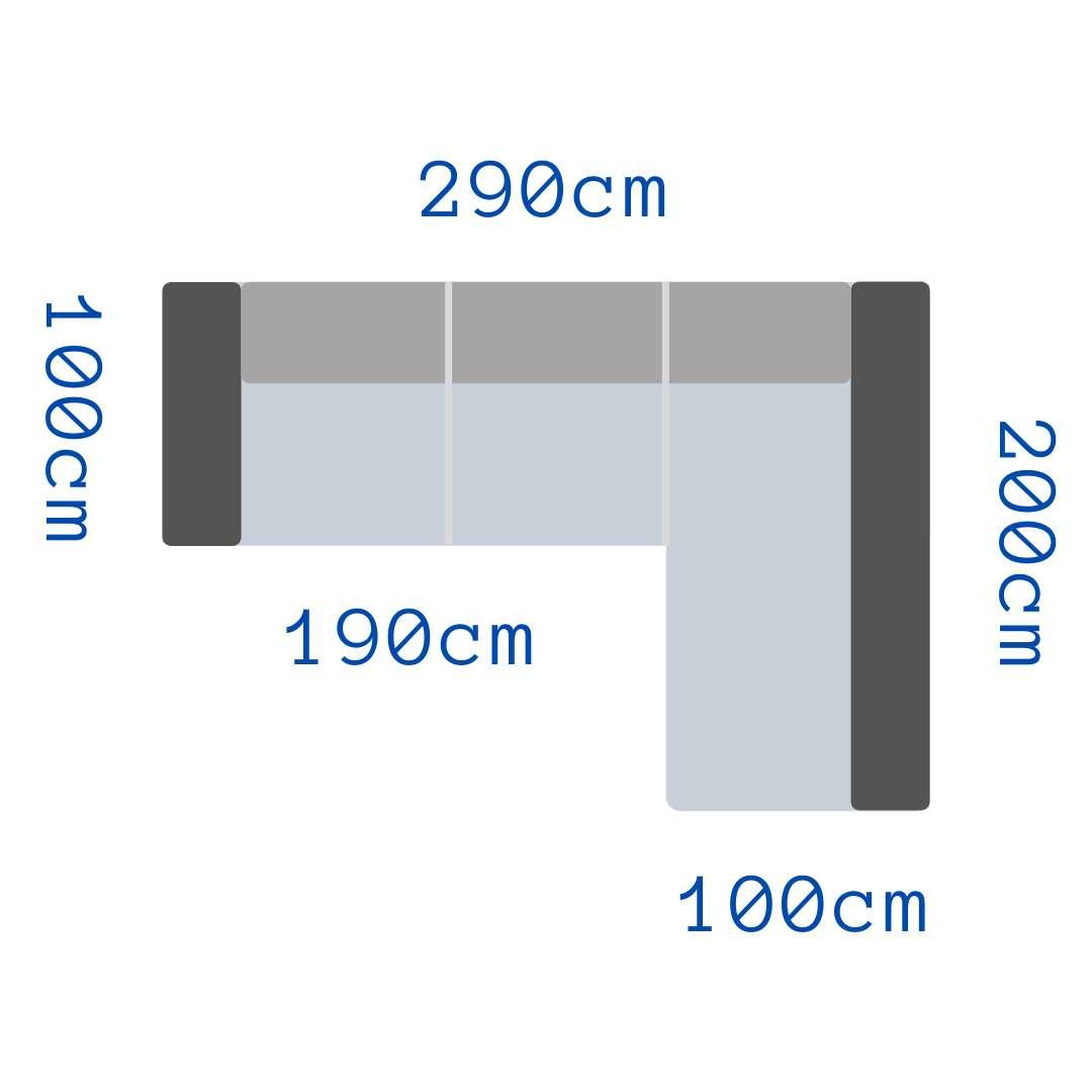 divano ad angolo - dimensioni