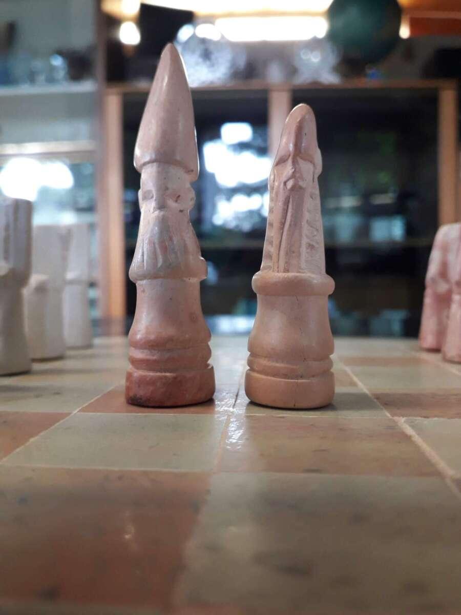 scacchiera pietra saponaria