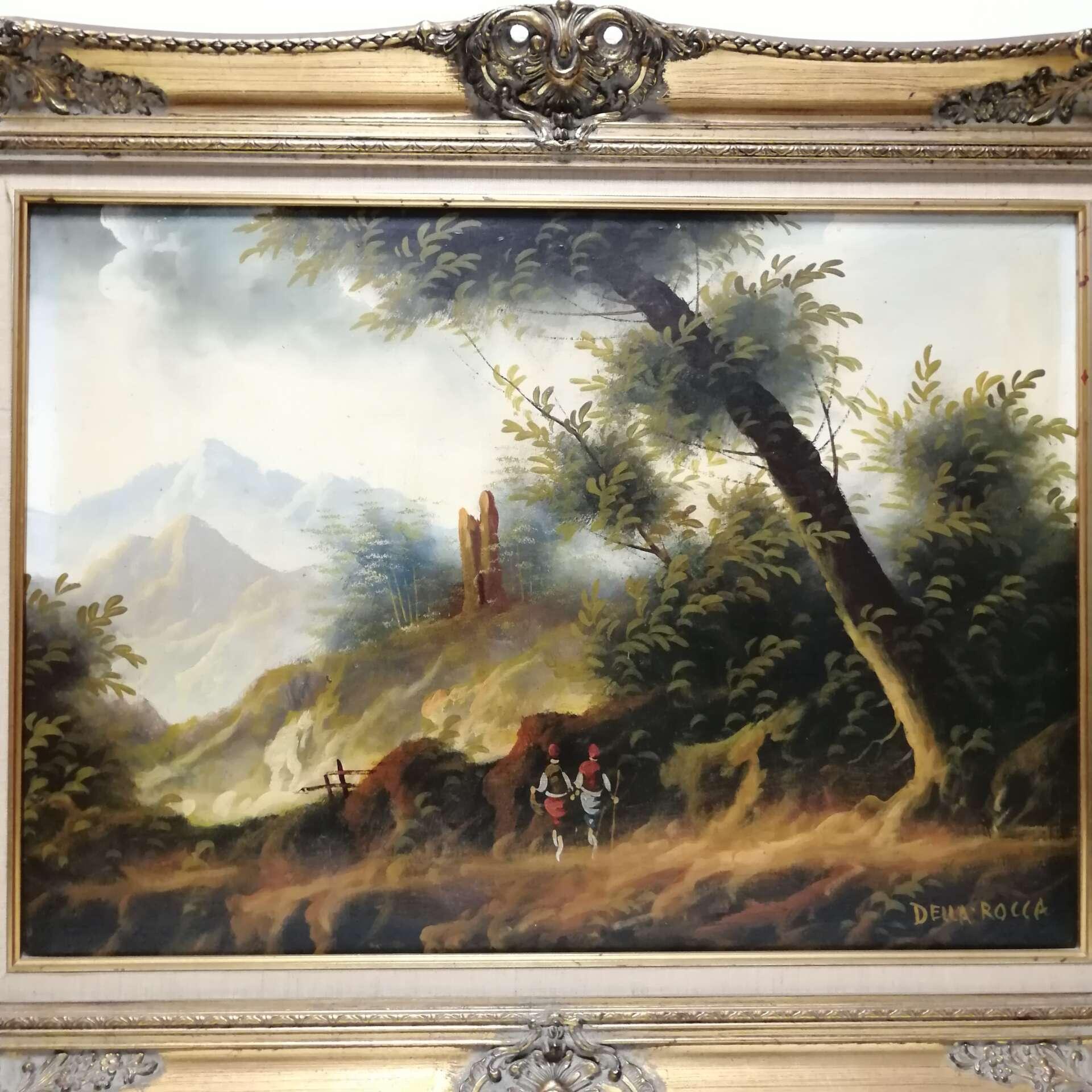 Dipinto della Rocca con cornice