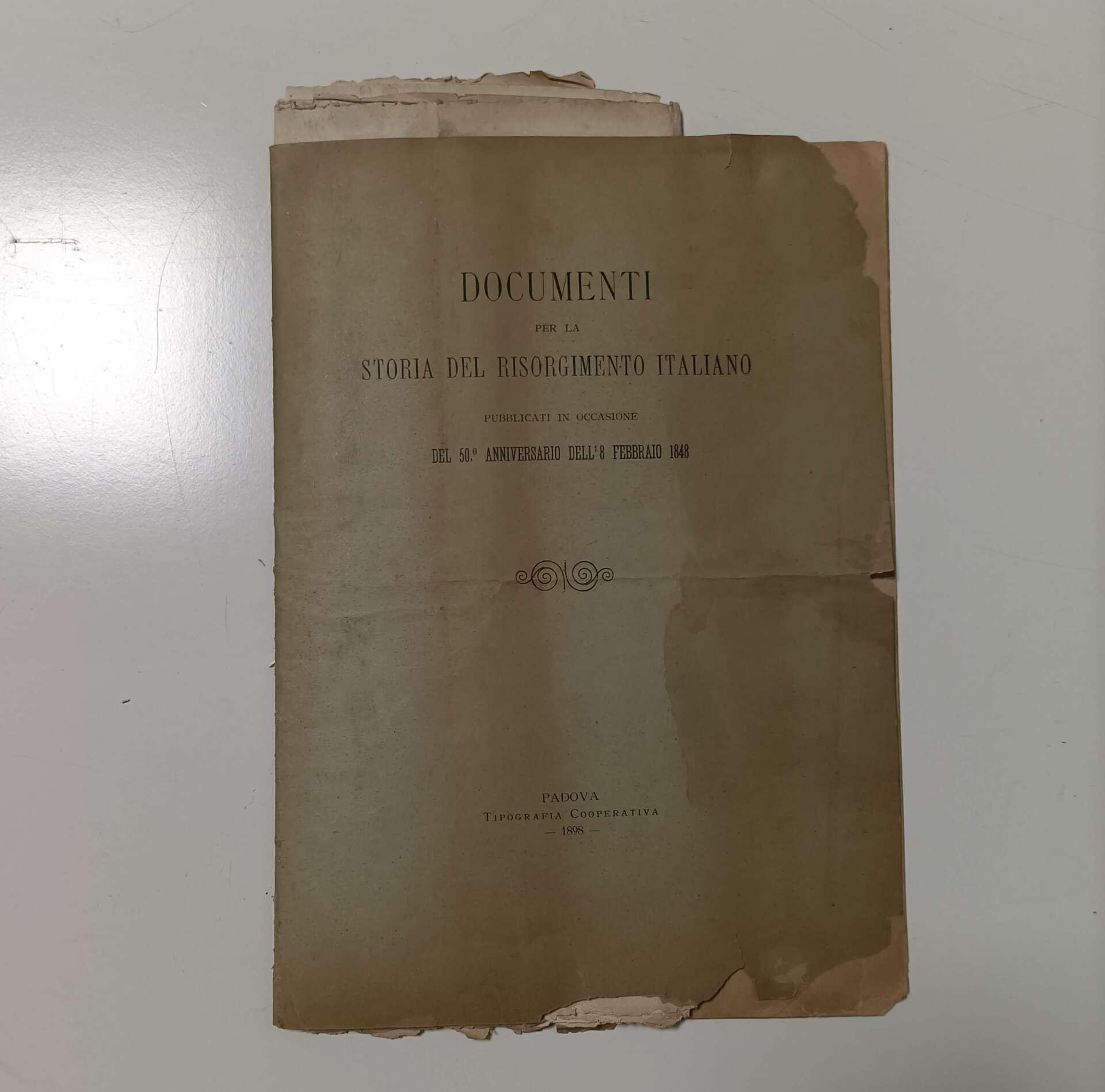 documenti storia risorgimento italiano